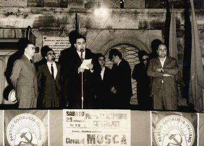 43° anniversario dell'assassinio di Giuseppe Di Vagno. Cerimonia commemorativa svoltasi in piazza XX settembre a Conversano