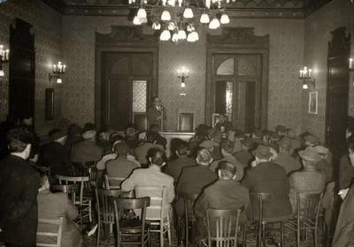 47° anniversario dell'assassinio di Giuseppe Di Vagno. Commemorazione tenuta da Michele Di Giesi nella sala del Comune di Conversano