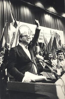 56° anniversario dell'assassinio di Giuseppe di Vagno. Manifestazione con la partecipazione di Bettino Craxi e Félipe Gonzales